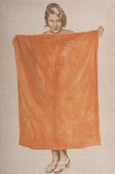 The Portal - (Portrait of Woman with Sheet)