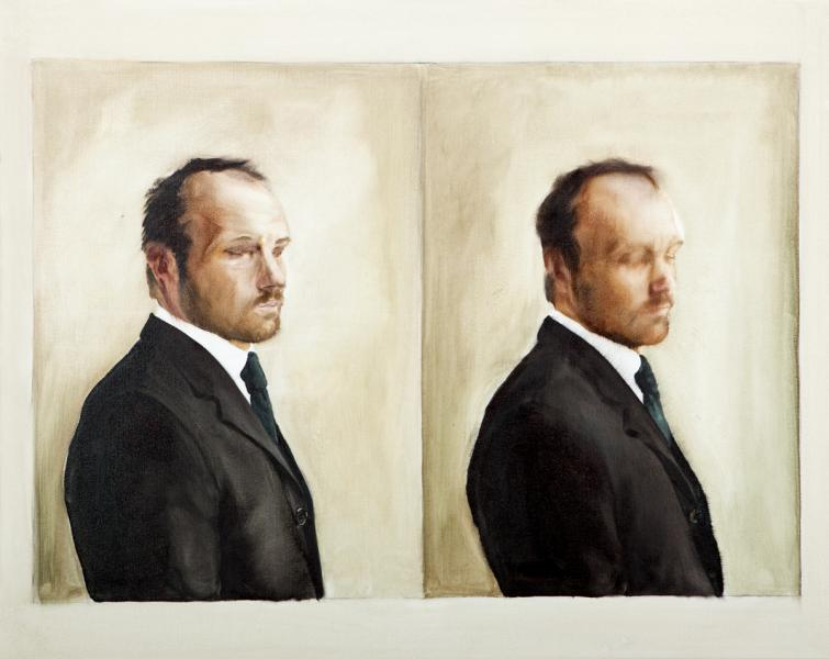 Portrait of Mr. Barton (Diptych)